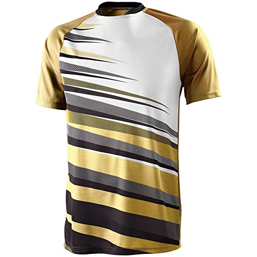 High Five Youth Galactic Jersey,Vegas Gold/Black/White,Large ()