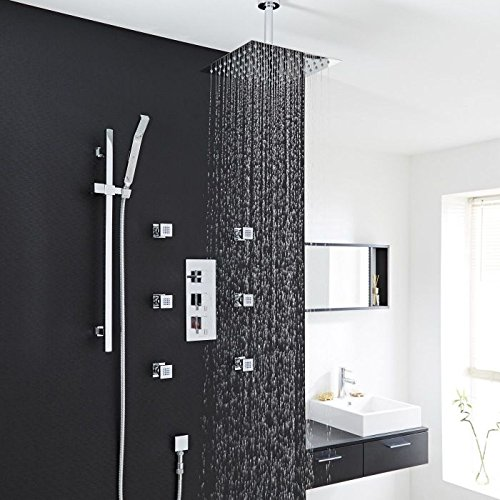 Hudson Reed Chrome Thermostatic Shower System With 12