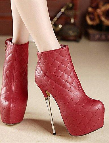 5 Negro Cn37 Eu36 White Casual Redonda Eu37 De Rojo Blanco Stiletto 5 5 Zapatos Mujer us6 5 5 Tacón Uk4 Botas Uk3 Semicuero us5 Punta Xzz Cn35 Red 7 4Rwvq1x