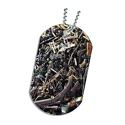 Rifle Shotgun Pistol Semi Automatic Weapons Dog Tag Necklace