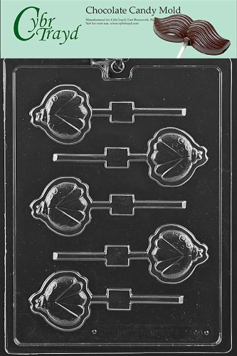 Cybrtrayd Life of the Party A146 Lady Bug Lolly Animal Chocolate Candy Mold in Sealed Protective Poly Bag Imprinted with Copyrighted Cybrtrayd Molding Instructions