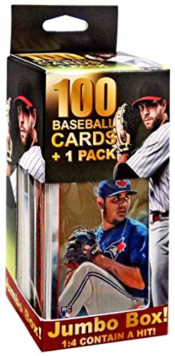 100 Baseball Cards 1 Pack Jumbo ()