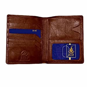 Buxton Men's Leather Credit Card Wallet (Brown)