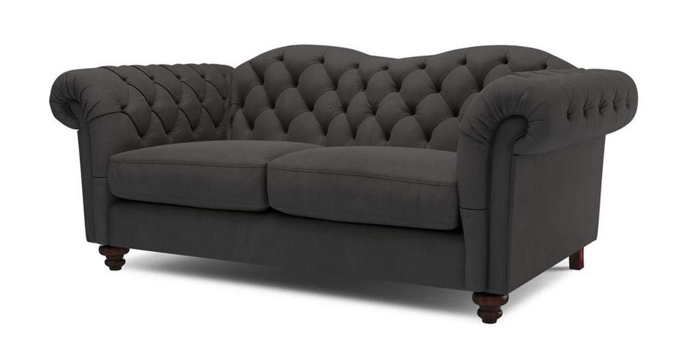 Galaxy Design Windsor 2 Seater Sofa Velvet Fabric, Pure Wood ...