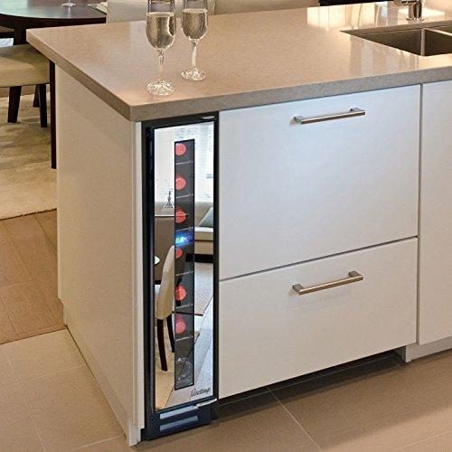 Climate Wine Cooler (Vinotemp VT-7BMSL-FE 7-Bottle Mirrored Wine Cooler, Black)
