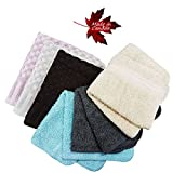 100% Cotton Facial Cloths Washcloths - 12 Pack - Made in Canada