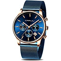 CRRJU Men's Auto Date Chronograph Watch
