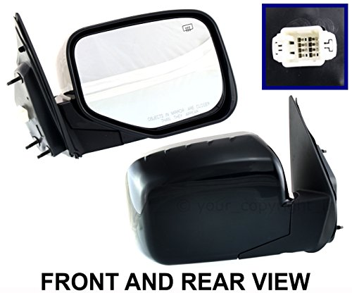 - Honda Ridgeline New Passenger Right Side View Door Mirror Power,Heated Manual Folding 2006 2007 2008 2009