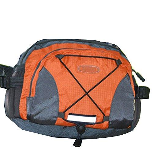 De nailon con GSPStyle Unisex Mochila de manga corta para hombre bolsas de actividades al aire libre Sport para el hombro de mujer Camping senderismo y bolsa de Naranja - naranja