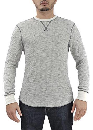 Helix Thermal (Men's Slub Knit Thermal Shirt (White, 2X-Large))