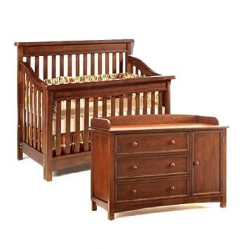 Amazon Com Bonavita Peyton Collection Crib Combo Set Chestnut