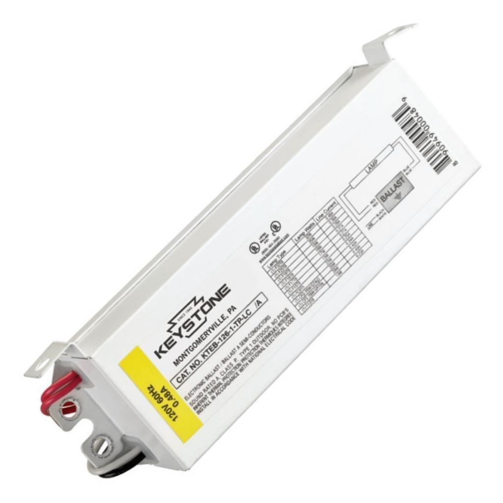 Keystone KTEB-126-1-TP-LC Fluorescent Ballast, 1-Lamp, F32T8, 32W T8, 120V Keystone Technologies CECOMINOD052599
