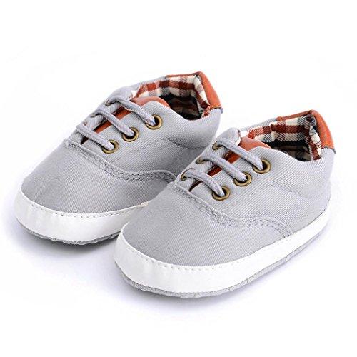 ... BZLine® Baby Kleinkinder Mädchen Schuhe cute Soft Anti-Slip Segeltuch  Schuhe Grau ...