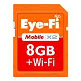 Eye-Fi 8GB Mobile X2 SDHC Class 6 Wireless Memory Card EYE-FI-8MD