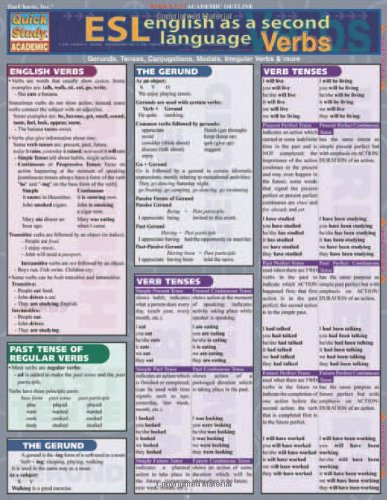 Esl Verbs (Quickstudy Reference Guides - Academic) by QuickStudy