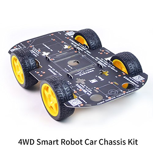(4WD Robot Chassis Kit with 4 TT Motor for Arduino/Raspberry)