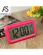 Decdeal LED Digital Alarm Clock Repeating Snooze Light-activated Sensor Backlight Time Date Temperature Display White