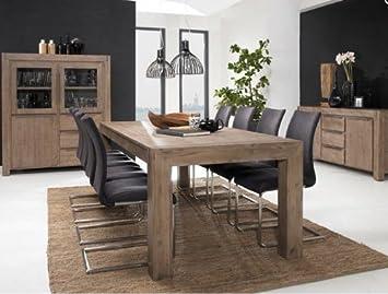 Esstisch 140cm Hamburg Massiv Holz Moebel Akazie Esszimmer Tisch Küchentisch