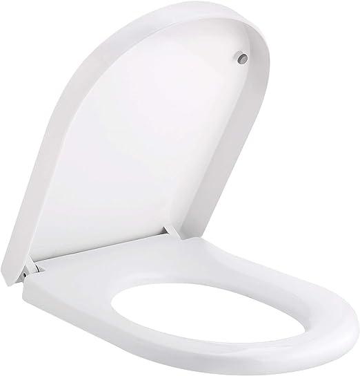 Toilettensitz Klositz weiß Kunststoff Toilettendeckel Klobrille Deckel Klodeckel