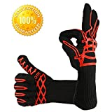 oven and grill gloves - LauKingdom BBQ Grilling Cooking Glove 932°F Extreme Heat Resistant Oven Mitts & BBQ Accessories