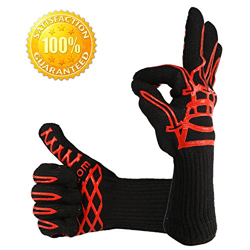 LauKingdom BBQ Grilling Cooking Glove 932°F Extreme Heat ...
