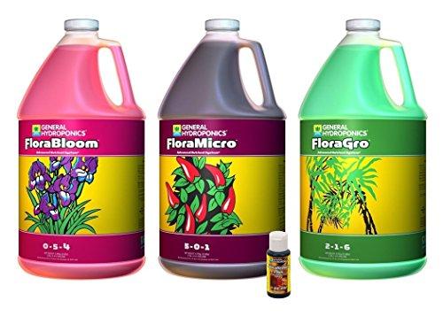 FloraGro, FloraBloom, FloraMicro Set + 1oz Floralicious Plus (Gallons) - Gallon Plant