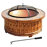 Sunjoy L-FT765PCO-A 36 in Tiki Fire Pit Natural