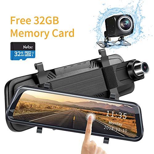 - OOTSUTU Mirror Dash Cam Backup Camera for Cars Dvr 10
