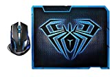 RioRand® E-3lue E-sport Cobra II Mazer 2500dpi USB LED Optical Wireless Gaming Mouse With AULA 11.8 * 9.2 Inch Gaming Mouse Pad