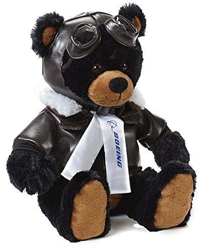 Aviator Bear - Boeing Large Black Aviator Bear
