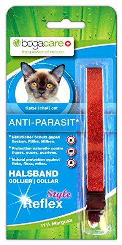 Bogacare UBO0429 Anti-Parasit Vlies Halsband Katze Style Reflex, rot