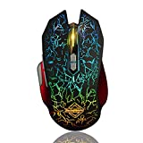 Ajazz GT RGB Backlit Wired Mouse, 9 Programmable Buttons Ergonomic Gaming Mice for Office Games and Daily Use, Black