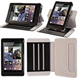 i-Blason Google Nexus 7 inch Tablet Genuine Leather Case Cover Detachable Landscape / Portrait View-Black