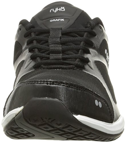 Cross Ryka Women's Grey Shoe Grafik Trainer Black 0q4rxqEw