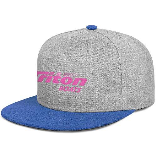 Pupkitten Fashion Caps Adjustable Triton-Boats-Fishing-Pink-Breast-Cancer-Blue Pattern Baseball Hats