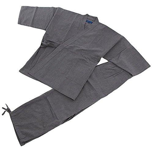 Edoten Men's Japan Kimono Quilted Clothes Sasiko Samue GY L