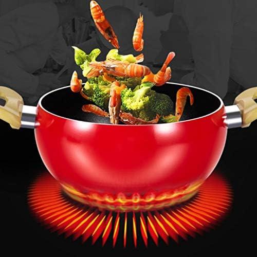 CUHAWUDBA Anti-Adh/éSif en Aluminium Cuisine Soupe Pot de Fruits Sauce Casserole Chaudi/èRe Tomate Forme Pas de Vapeur Outils de Cuisine de M/éNage Ustensiles de Cuisine