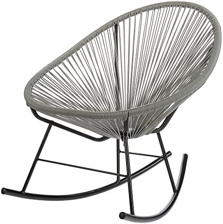 Acapulco Indoor/Outdoor Outdoor Patio Rocking Chair Grey