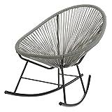 Acapulco Indoor / Outdoor Outdoor Patio Rocking Chair (Grey)