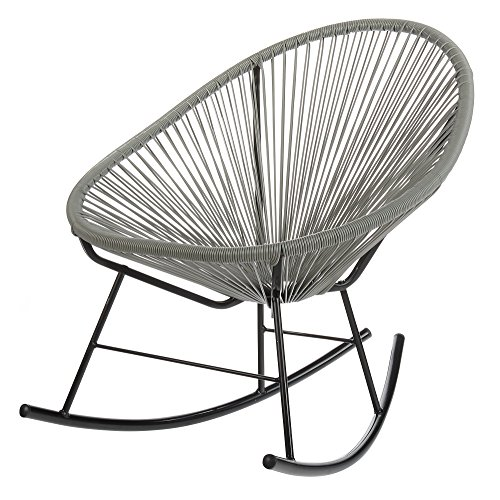 PoliVaz PV-MR-OR Mayan Hammock Acapulco Rocking Chair, Grey