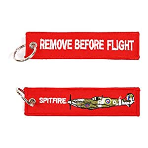 Remove Before Flight Spitfire Airplane/Bomber/Jet llavero ...
