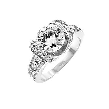 J Goodin juventud Trendy juego de matrimonio tensión de boda anillo de compromiso tamaño 10