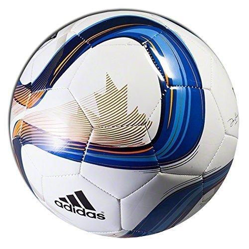 NEW Adidas 2015 MLS Glider Soccer Ball Nativo White Blue Size 5