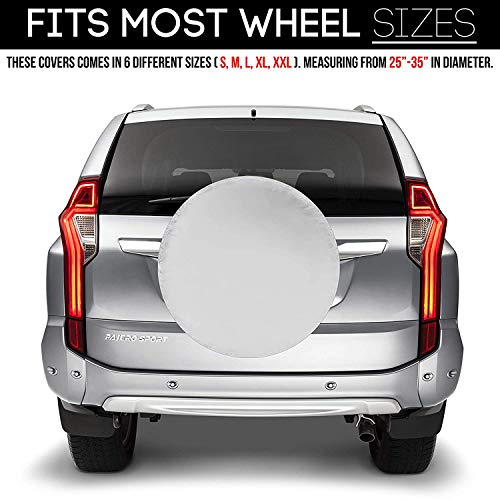 Spare-Tire-Cover--Must-Have-Car-Accessories-for-Your-SUV-Jeep-RV-Trailer-Truck--Fit-Most-Wheel-Sizes-by-Kankesh-XS13-INCH-White