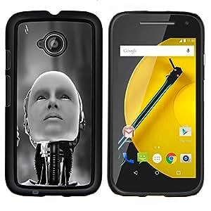 """Be-Star Único Patrón Plástico Duro Fundas Cover Cubre Hard Case Cover Para Motorola Moto E2 / E(2nd gen)( Robot humanoide"""" )"""