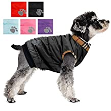 PAWZ Road Dog Jacket Cat Coat With Velcro For Small and Medium Pets Black S