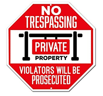Amazon.com: No Trespassing Sign – propiedad privada Sign ...