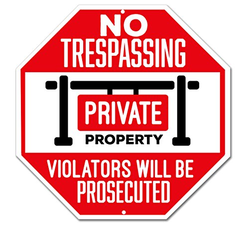 No Trespassing Sign - Private Property Sign - Violators Will