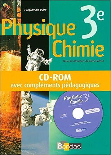 Physique Chimie 3e Vento Cd Rom Professeur 2008 Livre