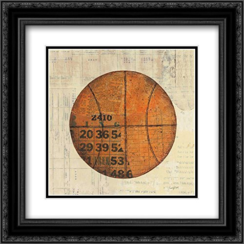 - Play Ball IV 15x15 Black Ornate Frame and Double Matted Art Print by Prahl, Courtney